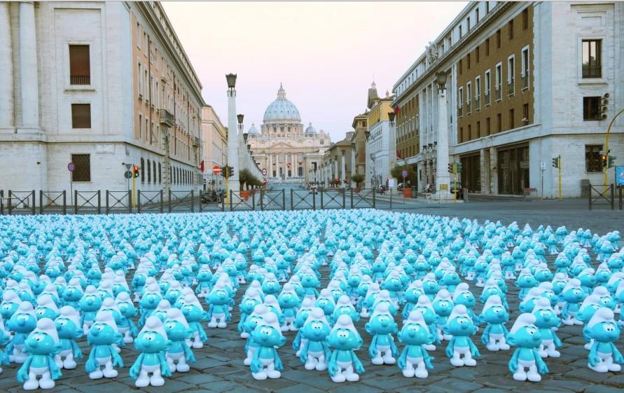 giornata mondiale puffi roma