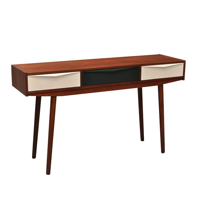tavolino in teak design scandinavo