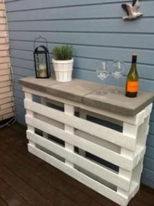 pallet terrazzo bar