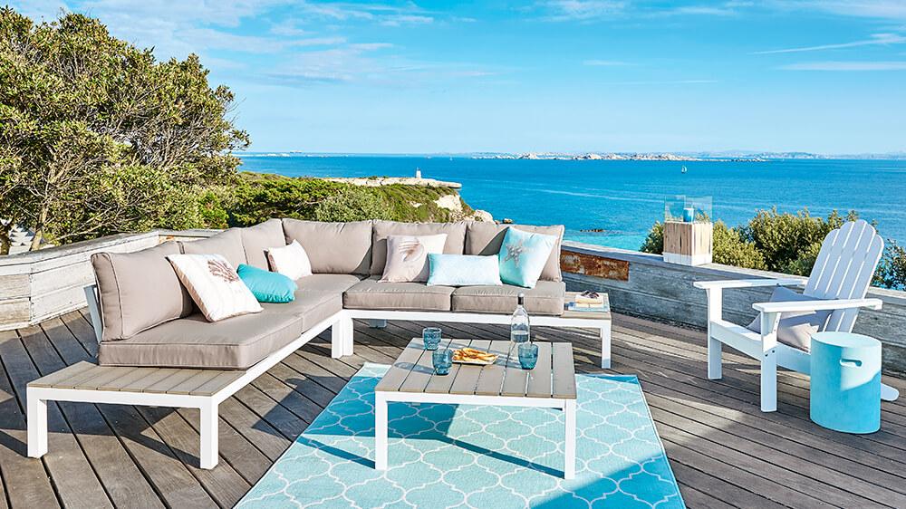 divano terrazzo stile moderno
