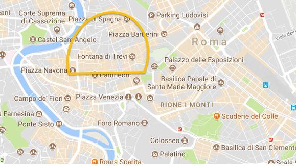 Zona hotel Roma